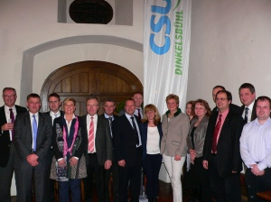 Monika Hohlmeier mit den Kreistagskandidaten